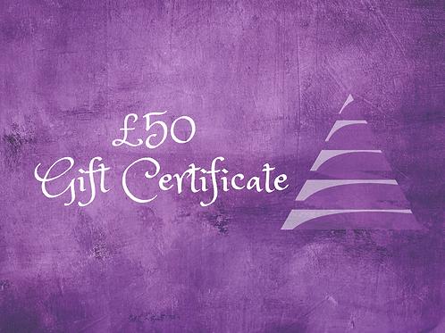 Gift e-Certificate - £50
