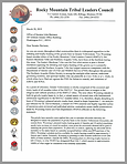 The Rocky Mountain Tribal Leaders Council letter to Senator John Barrasso (R-WY), the fourth ranking GOP senator, raising concerns about Wyoming's trophy hunt and drawing attention to the tribal alternative.