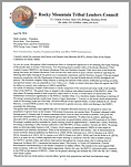 Rocky Mountain Tribal Leaders Council submission to the Wyoming Game & Fish Commission.