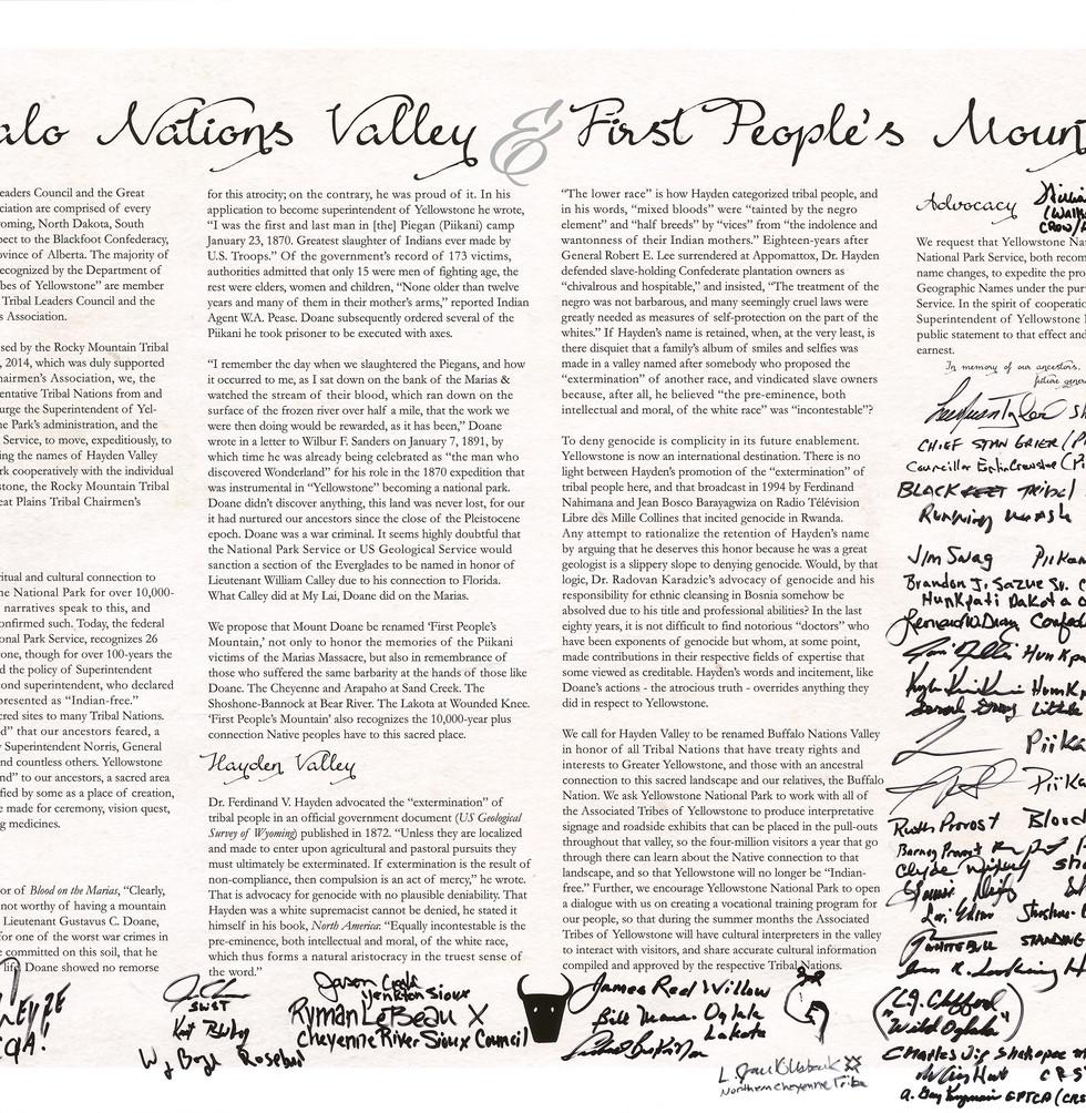 Tribal Declaration-Yellowstone National