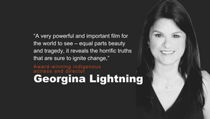 Georgina Lightning, award-winning indigenous actress and director, discusses Somebody's Daughter and the MMIW crisis . . .