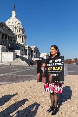 Deb Haaland at the Capital Building with