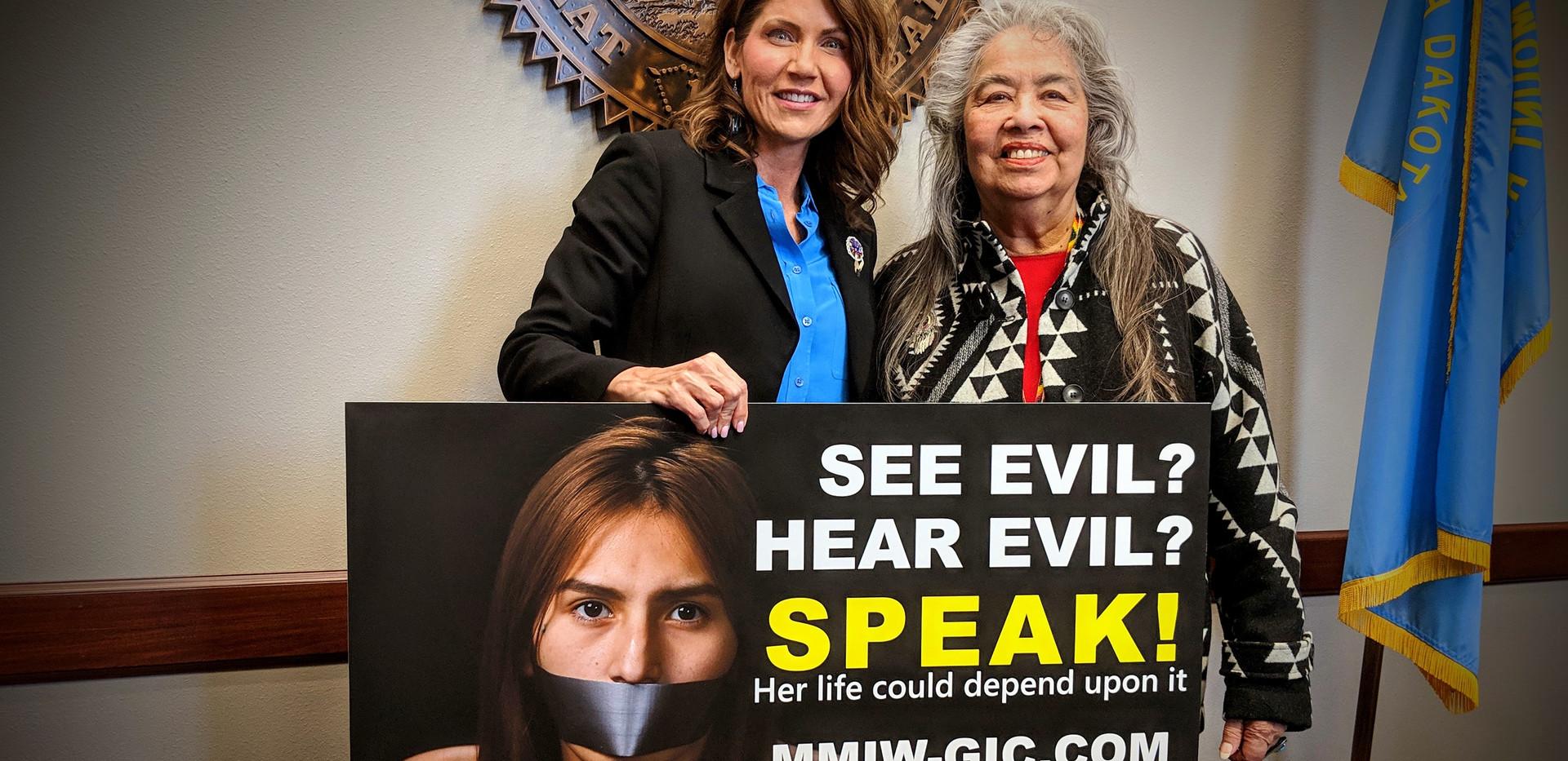Governor Kristi Noem and GPTCA's A. Gay