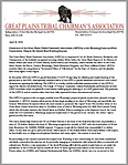 Great Plains Tribal Chairman's Association (GPTCA): Comments re WY G&F Commission Public Comments on the Grizzly Hunt