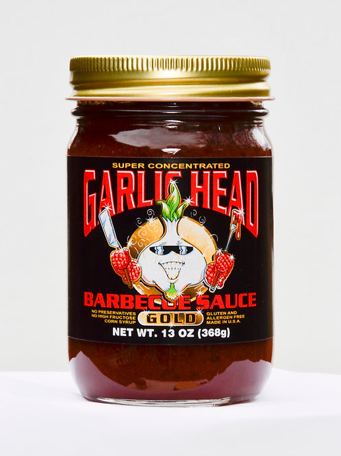 Combo 6-Pack of Garlic Head GOLD and SPICY Barbecue Sauce