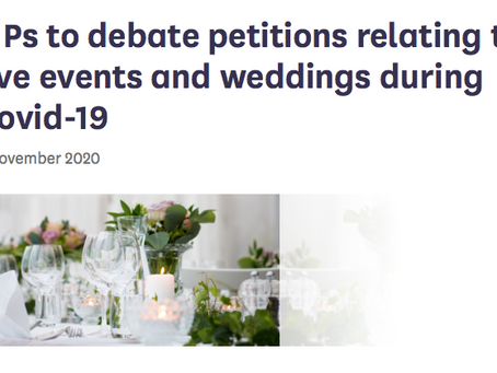 Parliamentary Debate on Weddings - What Can We Expect To Happen Now?