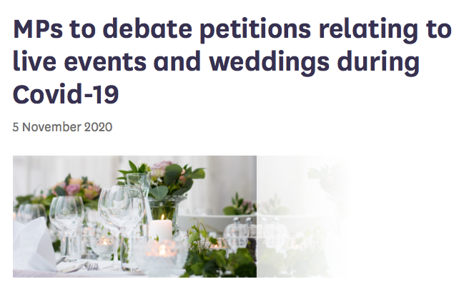 Parliamentary Debate on Weddings