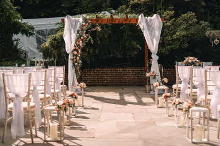 Ceremony Arch With Florals