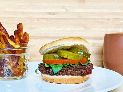 Veggie Sliders & Platain Fries (Vegan)