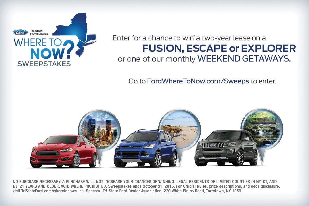 Where To Now Sweepstakes