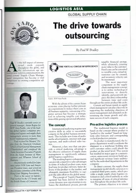 Economic Bulletin - The drive towards outsourcing by Paul W Bradley