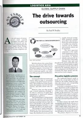 Economic Bulletin - The drive towards outsourcing by Paul W Bradley
