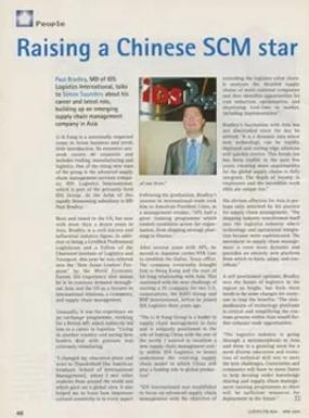 Raising a Chinese SCM star Source: Llyod's FTB Asia - May 2004