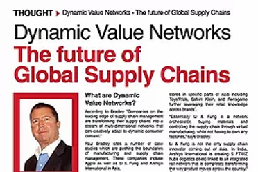 Dynamic Value Networks - The future of Global Supply Chains Source: Vietnam Supply Chain Magazine 8 March 2012