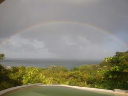 Rainbow over the island