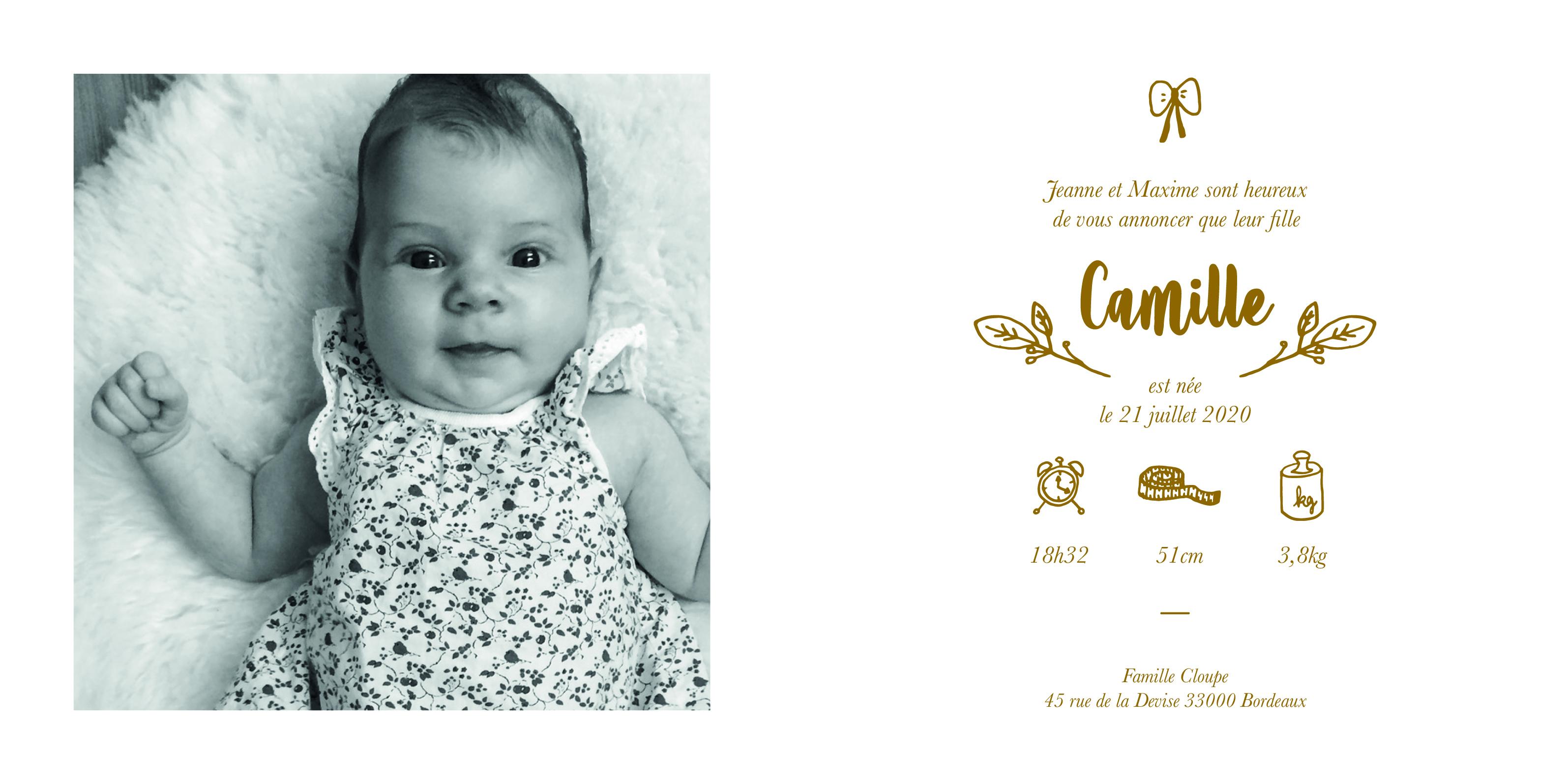 FP Camille - livret 4 pages - 13,5:13,5