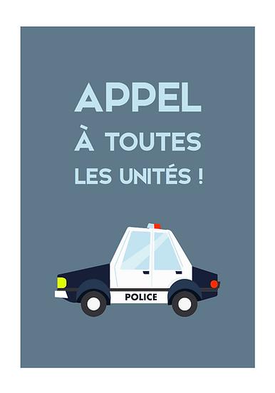 anniversaire thème policier - invitation numérique
