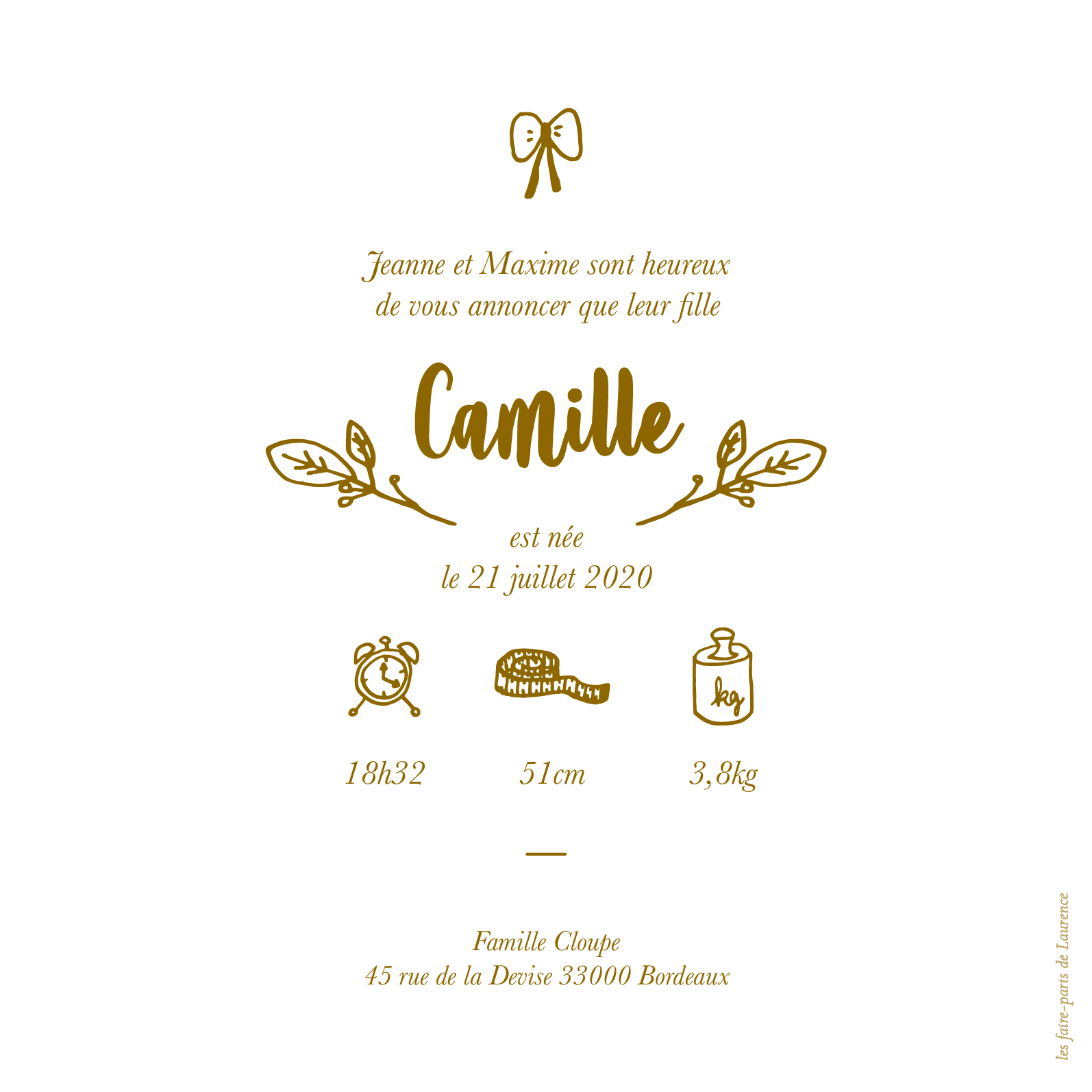 FP Camille - feuillet 2 pages -13,5:13,5
