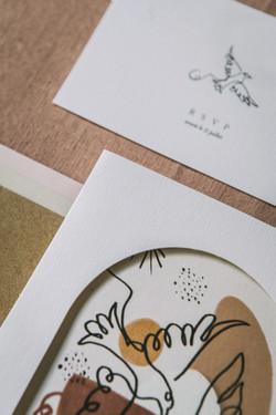 Collection mariage Mariette et Pierre - oiseaux et craie grasse - zoom 3