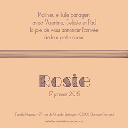 Rosie verso carré 1