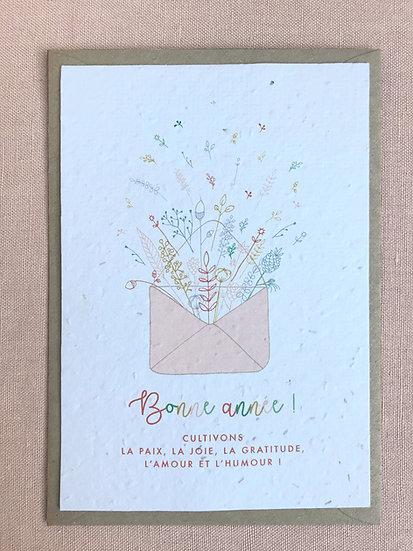 Cartes de voeux à planter - explosion de fleurs