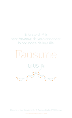 faustine rectangulaire verso