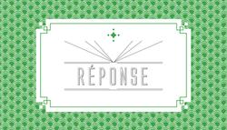 carton réponse recto