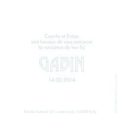 Gabin verso 1 carré