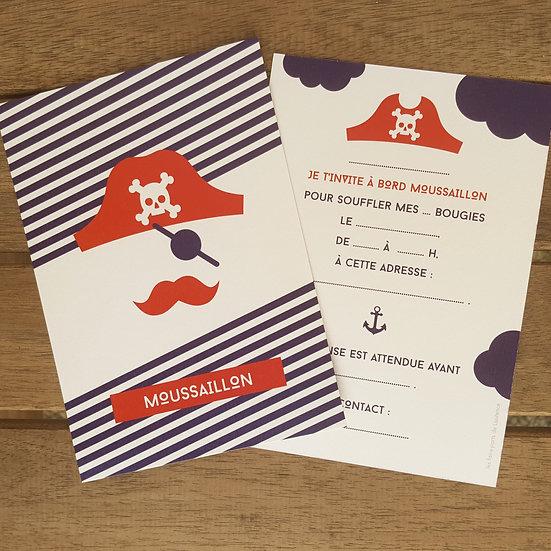 invitation anniversaire - pirate