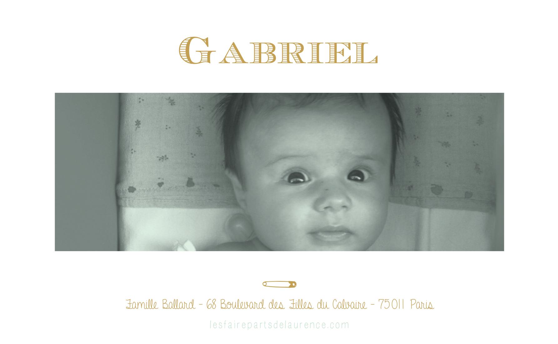Gabriel verso rectangulaire