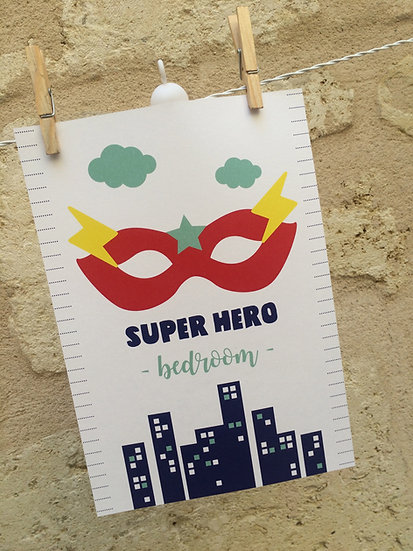 AFFICHE - super hero masque