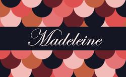 Madeleine recto rectangulaire 1