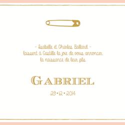 faire-part Gabriel recto carré 3