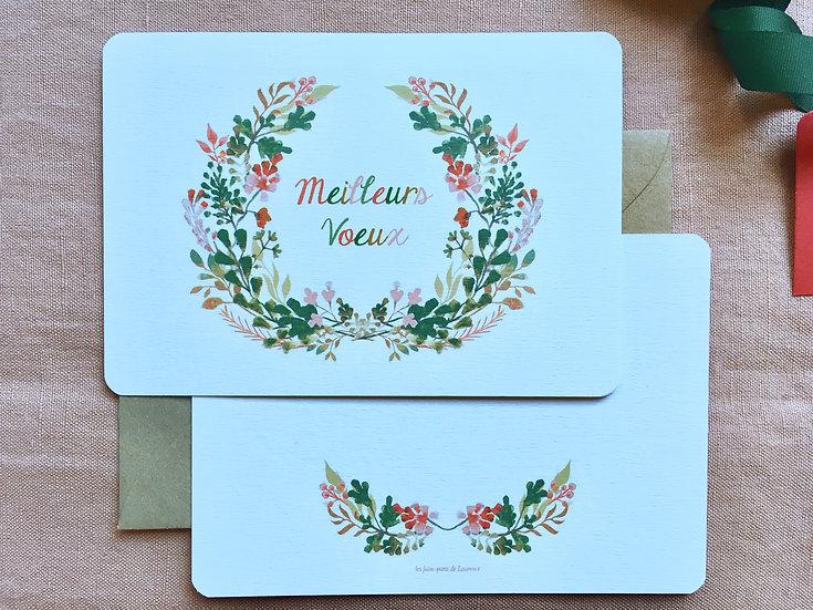 Cartes de voeux - couronne couleurs