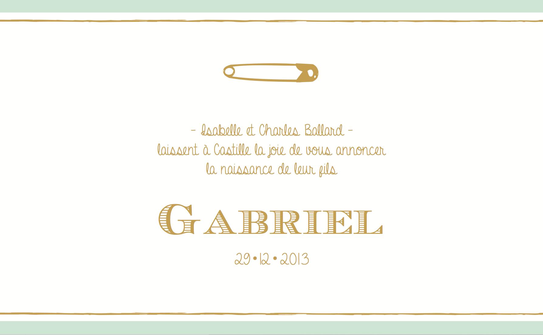 Gabriel recto rectangulaire