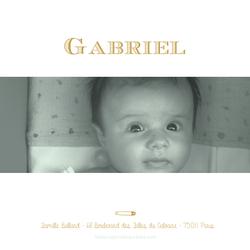 faire-part Gabriel verso carré 1