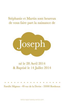 Joseph verso rectangulaire 1