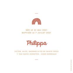 FP philippa arc-en-ciel - feuillet simpl