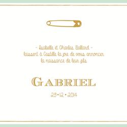 faire-part Gabriel recto carré 1