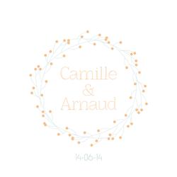 Arnaud et Camille faire-part