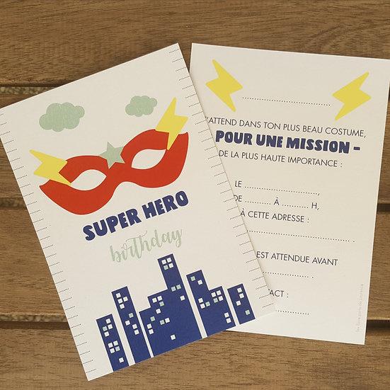 invitation anniversaire - super hero