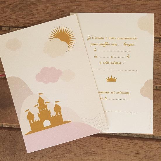 invitation anniversaire - princesse