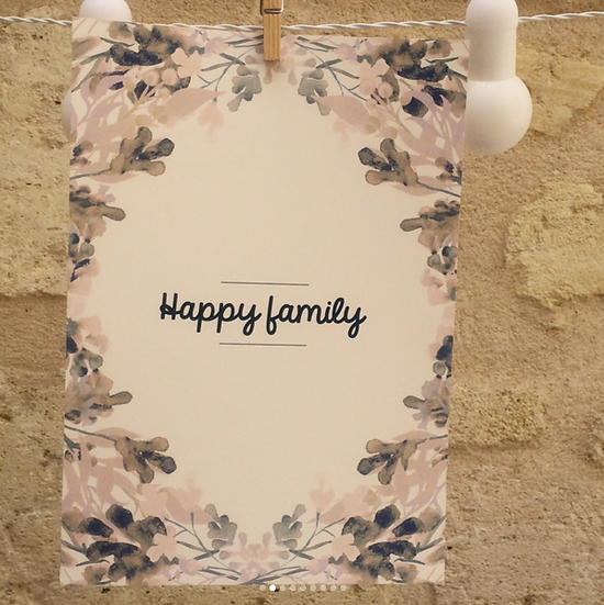 AFFICHE - couronne Teresa - Happy familly