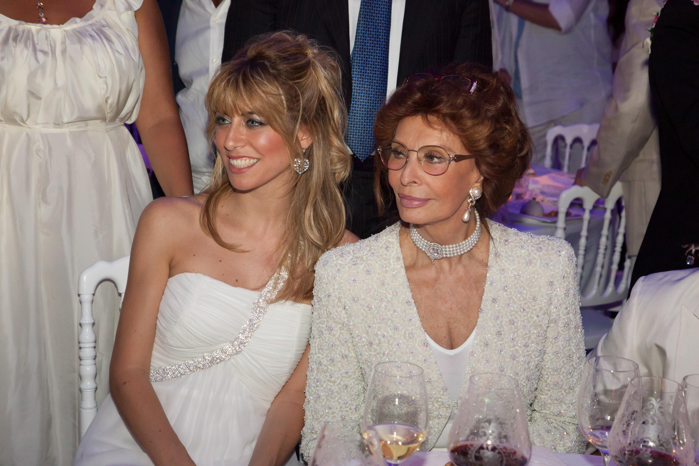 Ilaria and  Sophia Loren