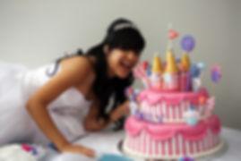 A 15 year old hispanic girl celebrates h