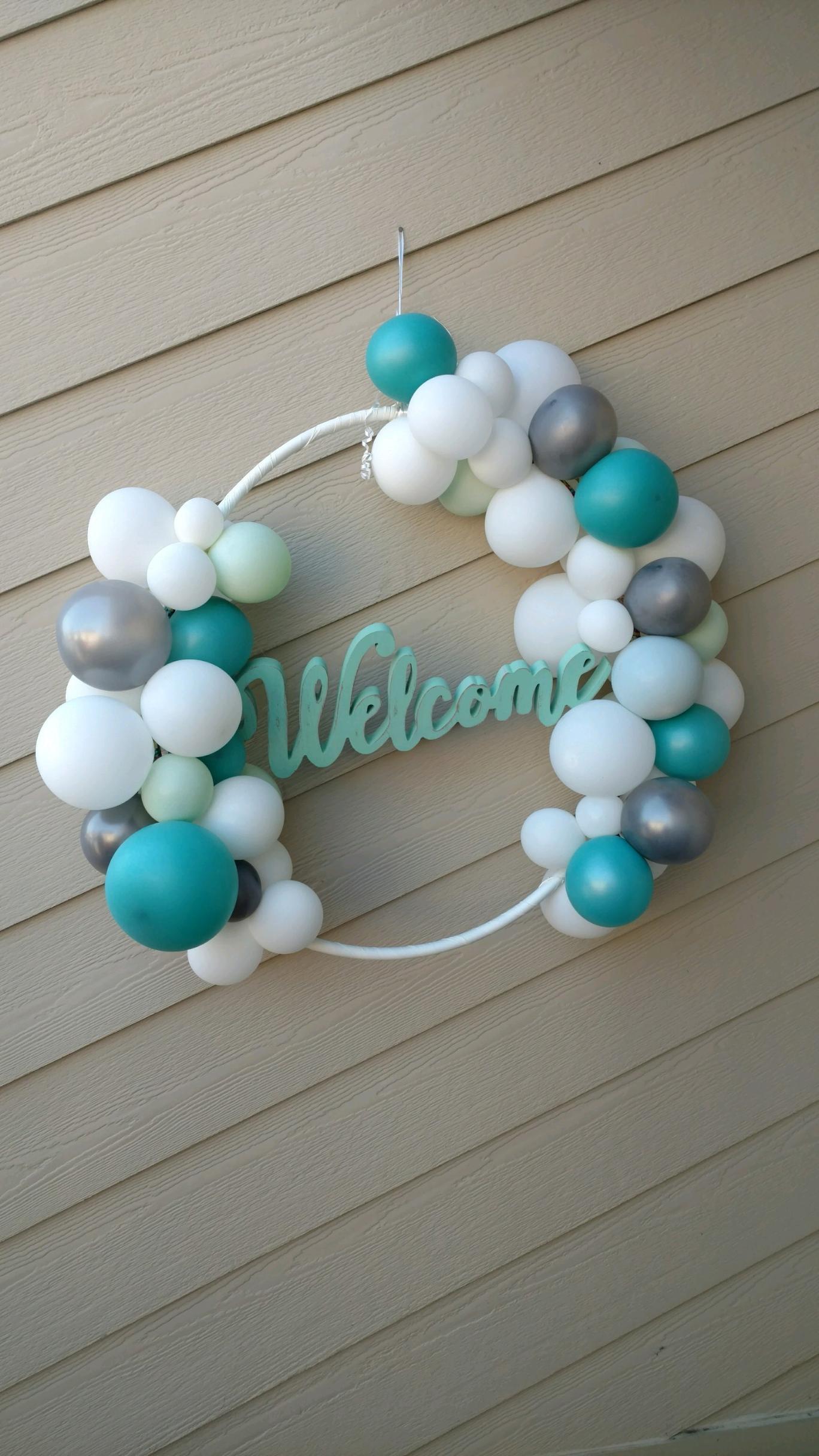Organic balloon wreath - $40