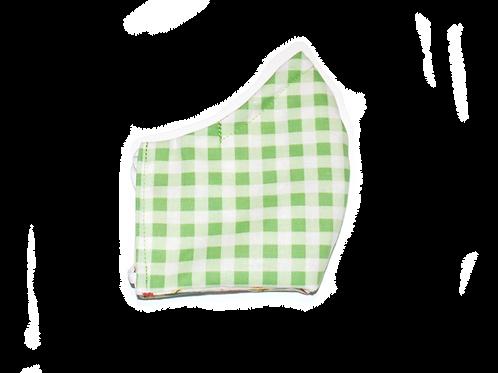 Gingham (green) face mask
