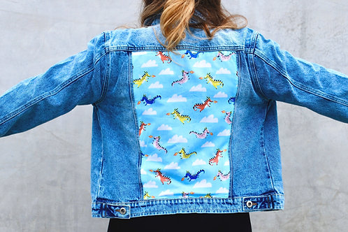 The Girl With The Dragon denim jacket