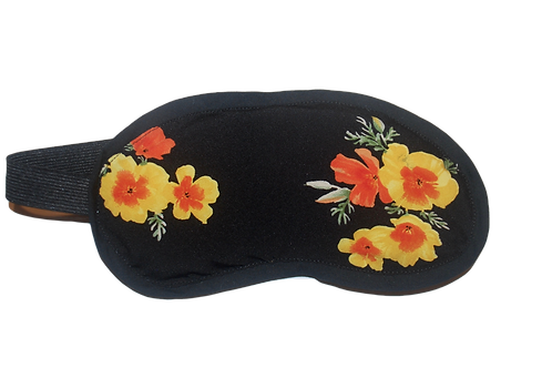 Flowers eye  mask (black)