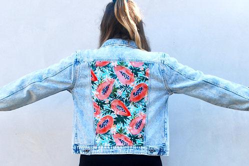 Papaya Paradise denim jacket